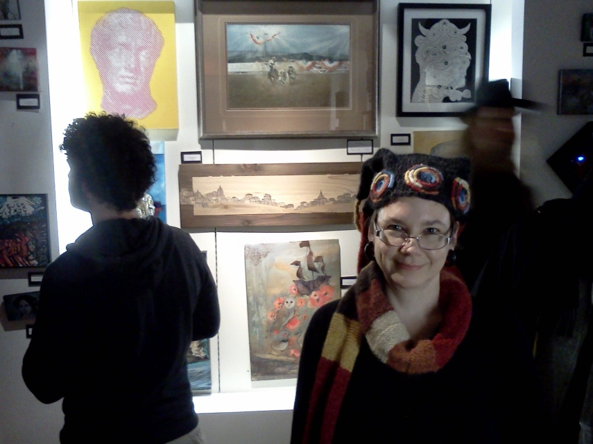 Me visiting Peoples Art of Portland exhibition, January 2013